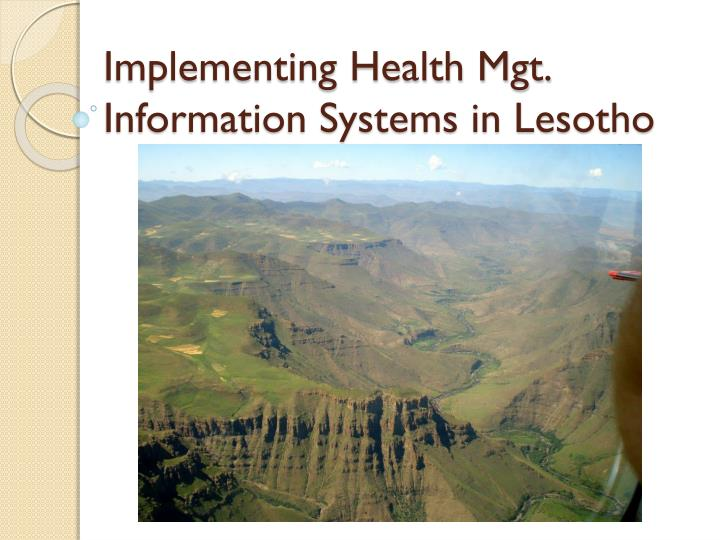 implementing health mgt information systems in lesotho