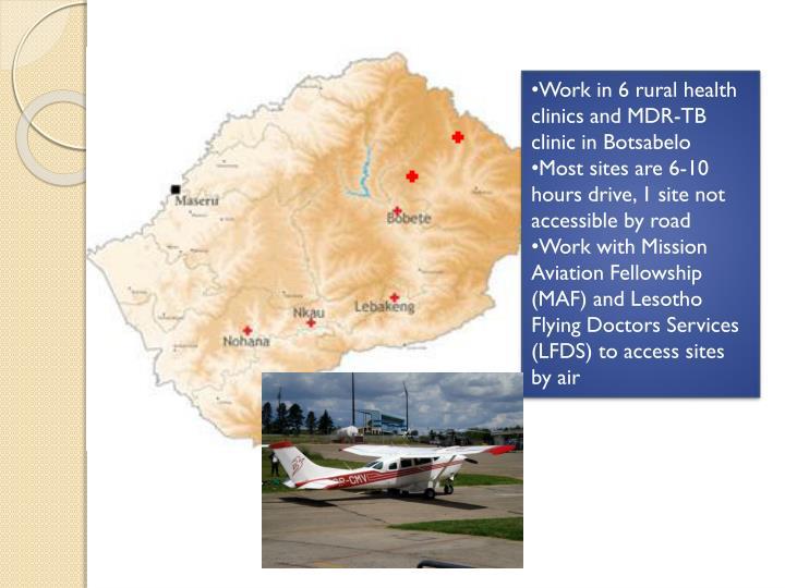 Work in 6 rural health