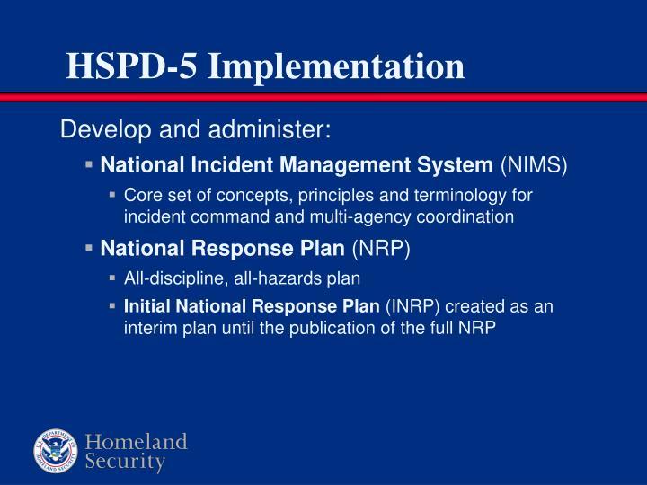 HSPD-5 Implementation