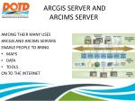 arcgis server and arcims server