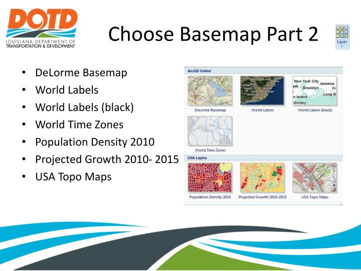 Choose Basemap Part 2