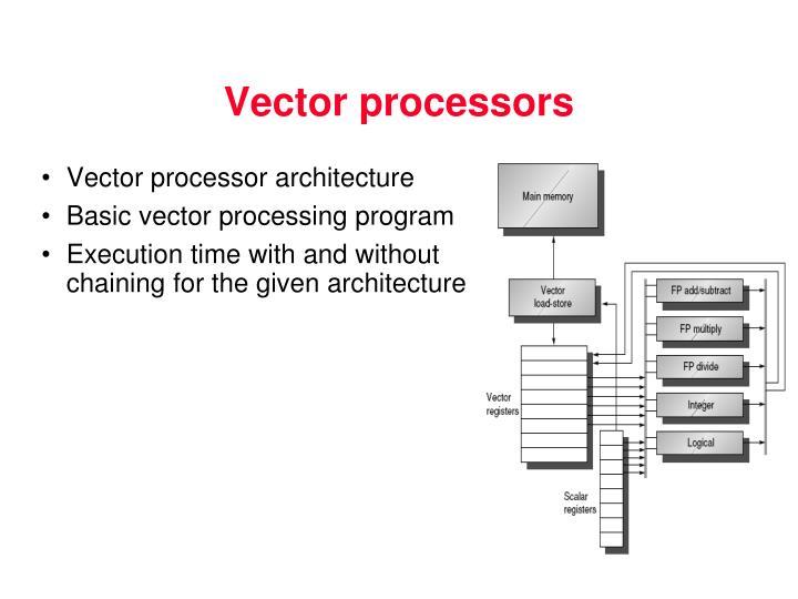 Vector processors