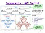 components mc control