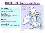 dc04 uk tier 2 centres