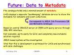 future data to metadata