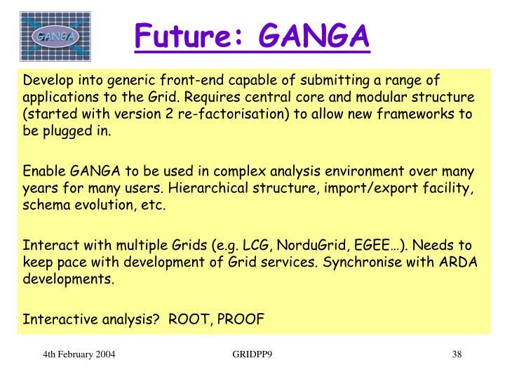 Future: GANGA