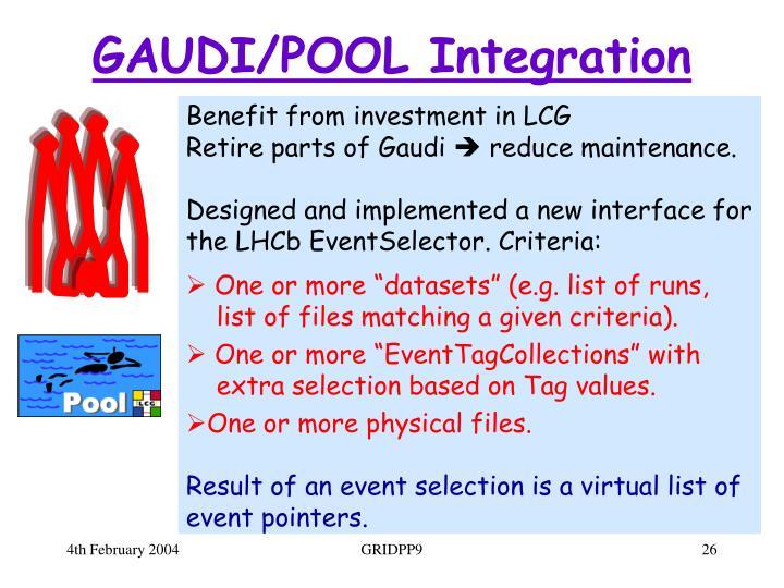 GAUDI/POOL Integration