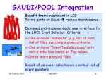 gaudi pool integration