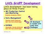 lhcb gridpp development