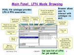 main panel lfn mode browsing