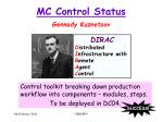 mc control status