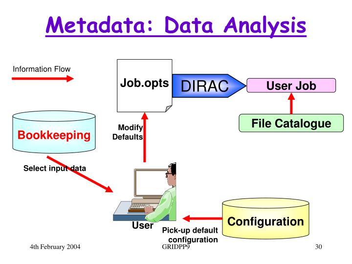 Metadata: Data Analysis