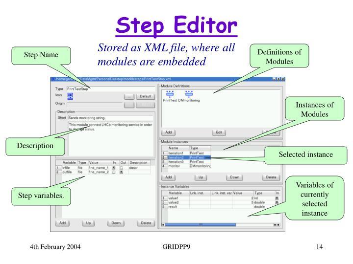 Step Editor