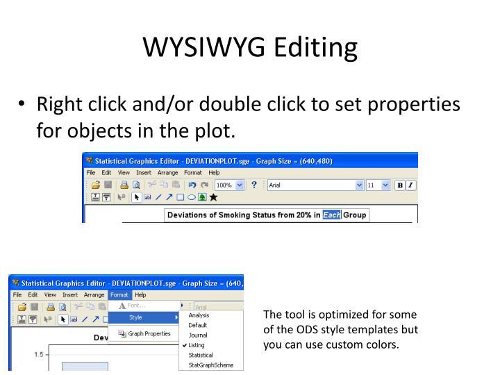 WYSIWYG Editing