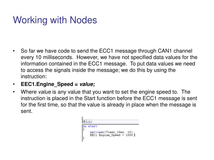 Working with Nodes