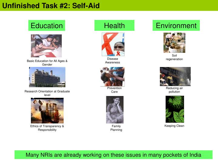 Unfinished Task #2: Self-Aid