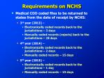 requirements on nchs1