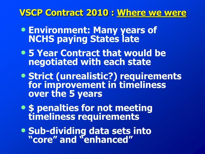 VSCP Contract 2010 :