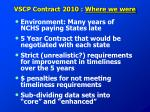 vscp contract 2010 where we were