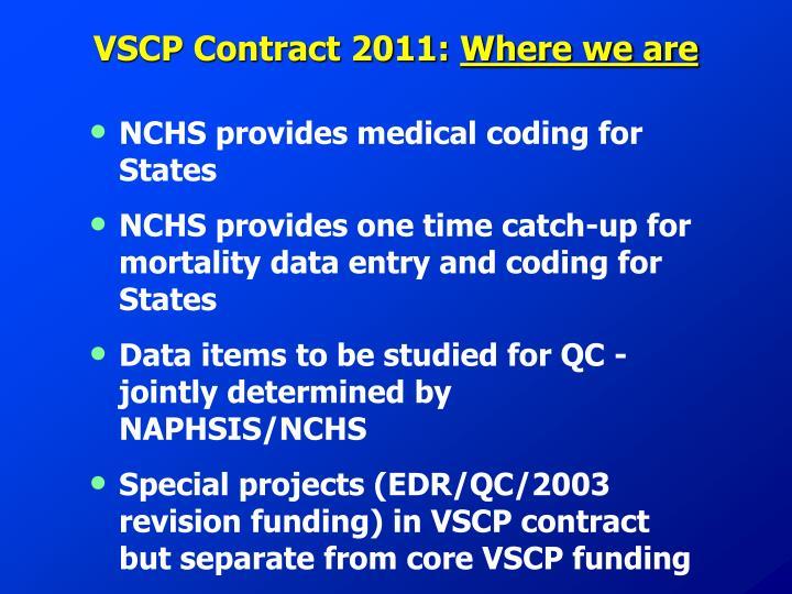 VSCP Contract 2011: