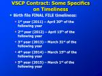vscp contract some specifics on timeliness2