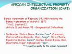 african intellectual property organization oapi