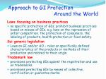 approach to gi protection around the world