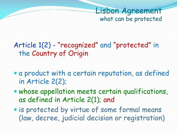 Lisbon Agreement