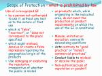 scope of protection what is prohibited by law