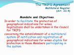 the trips agreement multilateral register art 23 4