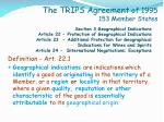 the trips agreement of 1995 153 member states