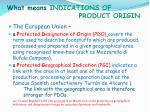 what means indications of product origin1
