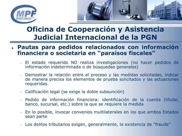 Oficina de Cooperación y Asistencia