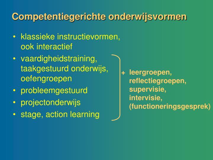 Competentiegerichte onderwijsvormen