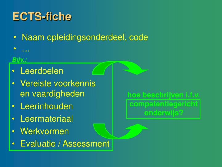 ECTS-fiche