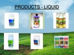 products liquid