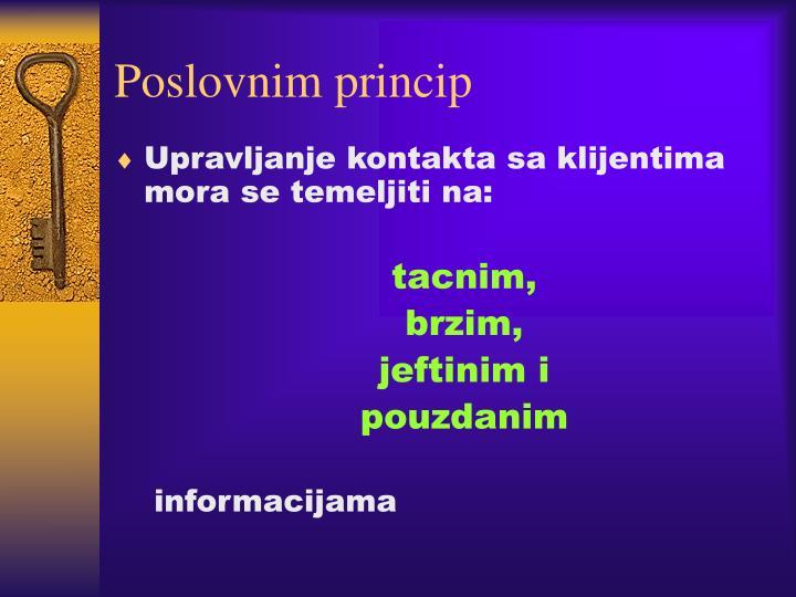 Poslovnim princip