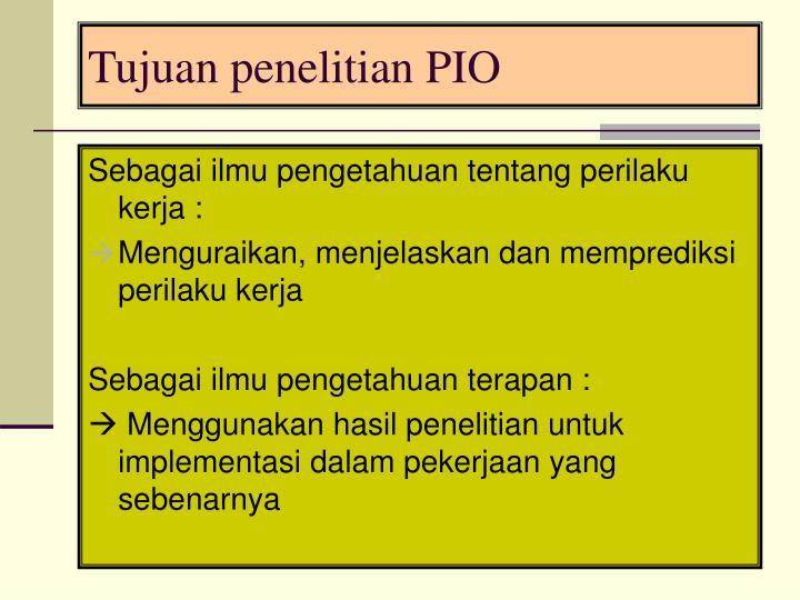 Tujuan penelitian PIO