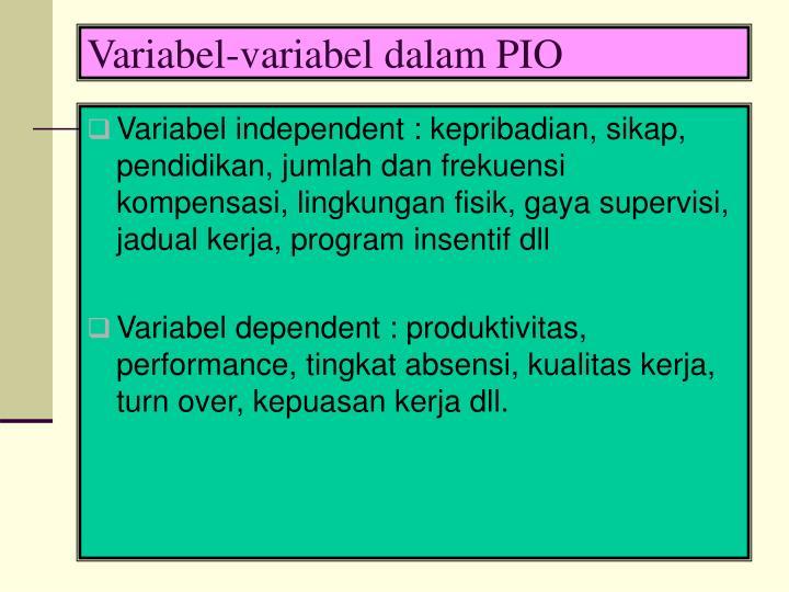 Variabel-variabel dalam PIO