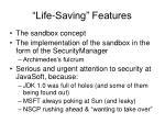 life saving features