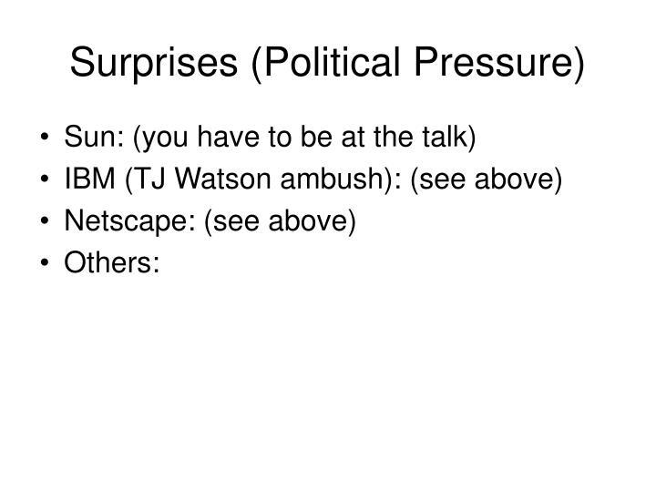 Surprises (Political Pressure)