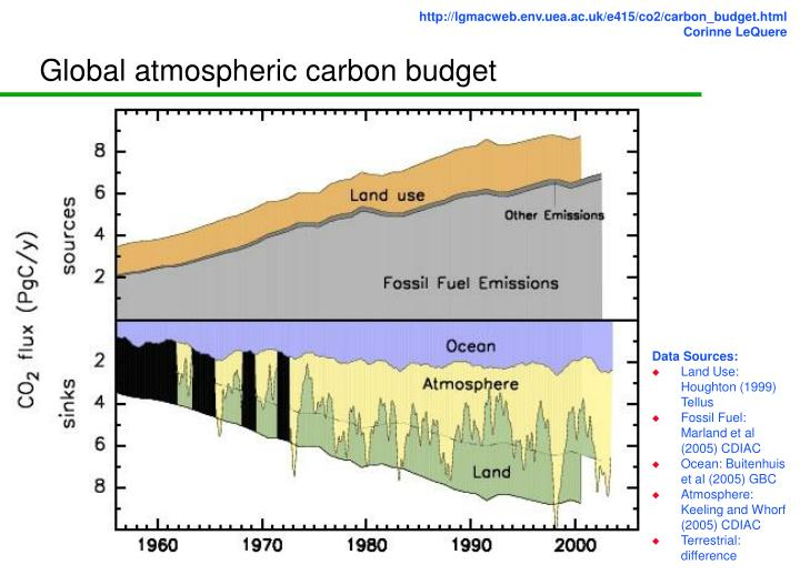 Global atmospheric carbon budget