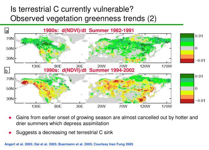Is terrestrial C currently vulnerable?