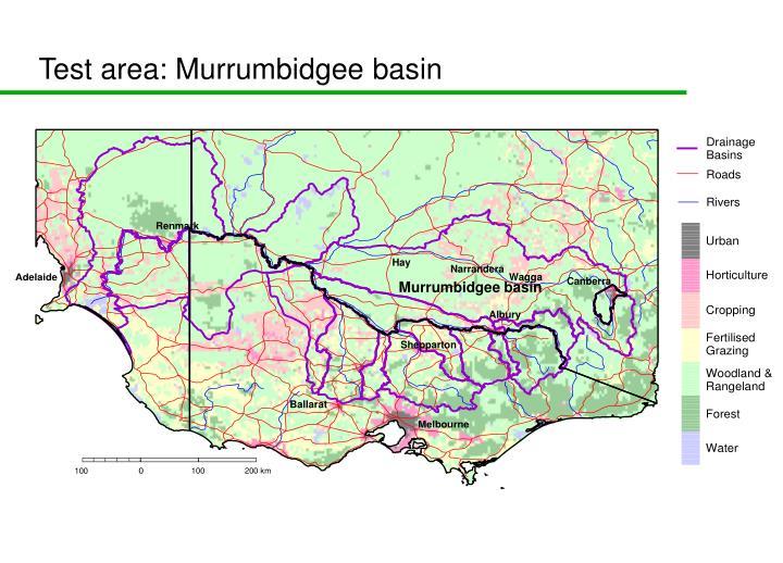 Test area: Murrumbidgee basin