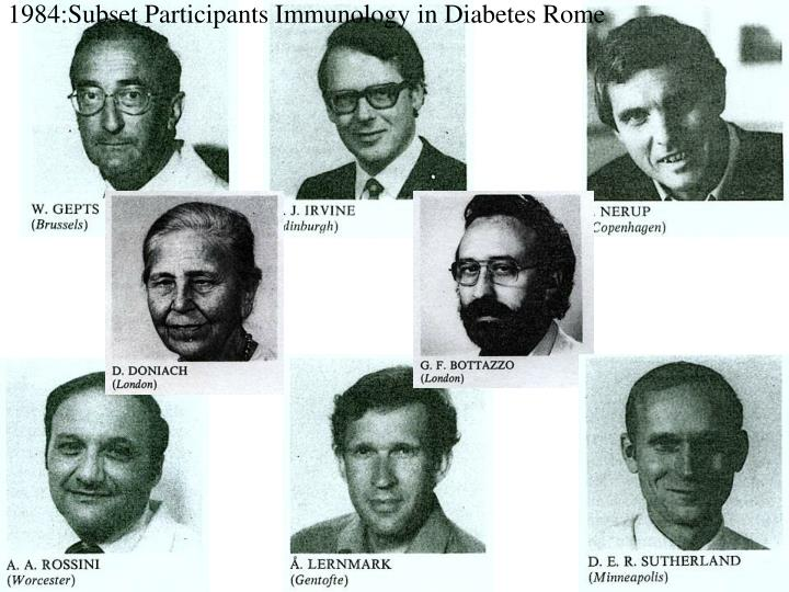 1984:Subset Participants Immunology in Diabetes Rome