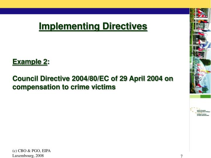 Implementing Directives