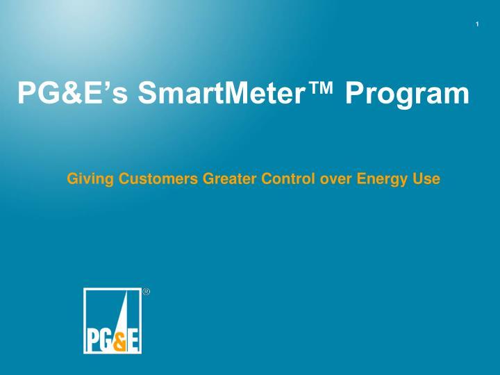 pg e s smartmeter program