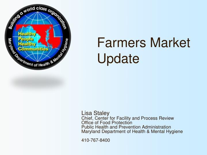 farmers market update