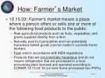 how farmer s market