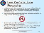 how on farm home processing